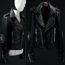 ByTheR Mens Stud Black Jacket Motorcycle Korea Fashion 6RSELFAA0011270