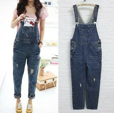 Fashion Womens Long Work Denim Jeans Jumpsuits Strap Trousers Pants Bib Overalls