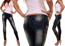 JEANS Ms.PUSH UP STRETCH SLIM MOULANT DELAVE STRASS T. 36/S,38/M,40/L,42/XL