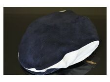 Borsalino Navy Blue Leather Suede Cap