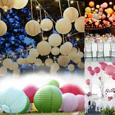 "1X Paper Lanterns 6"",8"",10"",12"" + 1X white Keyring Led Bulbs for Wedding Party"