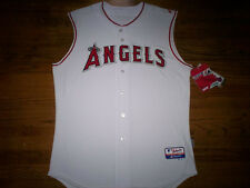 ANAHEIM ANGELS NEW MLB MAJESTIC AUTHENTIC SLEEVELESS COOL BASE GAME JERSEY