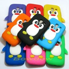 1 Pcs Fashion 3D Penguin silicone case cover for Samsung Galaxy Ace 2 I8160