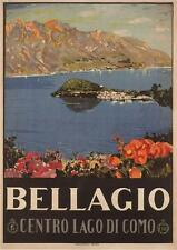 BELLAGIO, LAKE COMO Italy Travel Poster by Livio Apolloni 1926 - SG2347 -