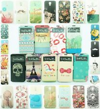 New For Samsung Galaxy S4 i9500 Painting Smart Wake View Flip Leather Case Cover