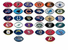 NFL Decal Sticker Football with Team Logo Licensed Choose from all 32 Teams