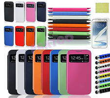 Luxury Flip View Smart PU Leather Cover Case For Samsung Galaxy S4 S IV i9500