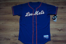 """NEW YORK METS """"LOS METS"""" NEW MLB MAJESTIC AUTHENTIC COOL BASE GAME JERSEY"""