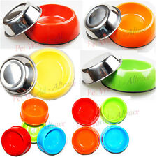 Stainless Steel Matel / Plastic Dog Cat Travel Bowl for Pets 5 colors  bowl dish