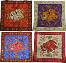 """Elephant Wall Hanging Indian Hippy Ethnic Sequin Tapestry Embroidered 23"""" 58cm"""