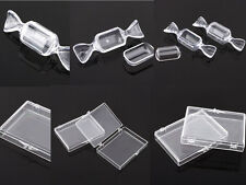 Empty 5-10Pcs Plastic Clear Storage Gift Case For Wedding Decoration CONTAINERS