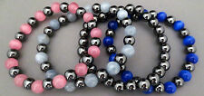 YOU PICK Magnetic Hematite 8mm Gemstone, Cat's Eye, Beaded Bracelet Healing