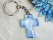 Blue Cross Acrylic Keychain Favor Wedding Baptism Christening Baby Shower 25-150