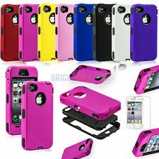 US Film+ iPhone 4 4S ROBOT IMPACT RUBBER MATTE SHOCK PROOF ARMOR Hard Case Cover
