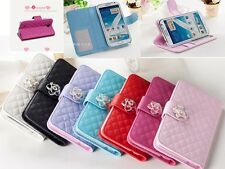 Fashion Camellia Flip Wallet PU Leather Case Cover For Various Mobile Phone +Gif