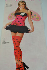 PALMERS LEGGY LADYBUG COSTUME ADULT HALLOWEEN HEN PARTY FANCY DRESS OUTFIT