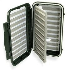 Caimore 'Click-Lock' Swing Leaf Fly Box - Small & Med. Trout Flies - Dark Green