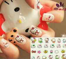 3D Cute Hello Kitty Drecorate Nail Art Manicure Tips Paper Stickers