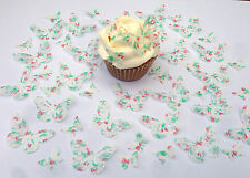 48 Edible Strawberry Pre Cut Butterflies Cupcake Toppers 2 designs