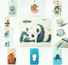Cute Pattern For iPhone/Samsung Flip Leather Card Slot Wallet Pouch Case Cover