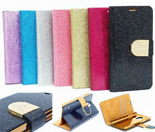 Bling Crystals Glitter Flip Wallet Leather Plating Cover Case For Various Phone