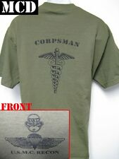 USMC RECON T-SHIRT/ MCD/ NAVY RECON CORPSMAN/ SARC/ MILITARY/  NEW