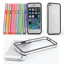 Clear Colors Frame Hard Rubber Bumper Case For Apple iPhone 5 5G 5S New