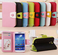 Flip Bicolor Wallet PU Leather Stand Case Cover For Samsung Galaxy S4 SIV i9500
