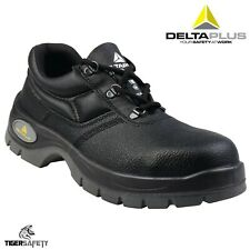 Delta Plus Panoply Jet 2 S1 Black Leather Ladies Safety Toe Cap Shoes Work Shoes
