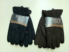 NEW MEN'S ISOTONER BRUSHED MICROFIBER GLOVES - Available in M, L, XL & 2 colors