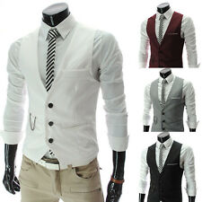 Men's Fashion Cool Slim Fit Blazer Coat Vest Jacket Waistcoat IN 4Colors SZ XS~L