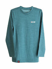 EDZ 200g Merino Children's Long Sleeve top and Leggings Set Teal