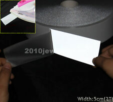"""Silver Reflective Tape Fabric Iron On Material Heat Transfer Width 2"""""""