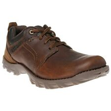 New Mens Caterpillar Brown Emerge Leather Shoes Lace Up