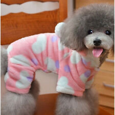 1pc Pink Heart Pet Dog Warm Clothing Puppy Winter Hooded Jumpsuit Coat Apparel