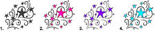 Waterslide Nail Decals Set of 20 - Stars with Swirls Scrolls - you choose