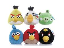 """NEW OFFICIAL 8"""" PLUSH ANGRY BIRDS AND ANGRY PIG SOFT TOY ANGRY BIRDS COLLECTION"""