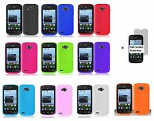 Rubber Silicone Case phone Cover for ZTE Savvy Z750C+Free Screen Protector