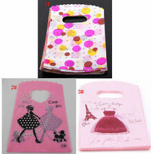 90-100pcs Pretty Plastic Jewelry Gift Bags 15x9cm small