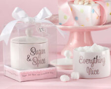 Sugar Spice & Everything Nice Ceramic Bowl Girl Baby Shower Favor 24-48