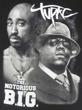 TUPAC SHAKUR BIGGIE SMALLS T-SHIRT FREE SHIPPING 2PAC NOTORIOUS BIG MED-4X