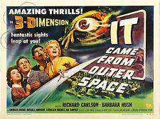 PLAQUE ALU DECO REPRODUISANT AFFICHE CINEMA SCI FI IT CAME FROM OUTER SPACE IT