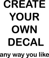 Create your own Decal Vinyl Wall Home Decor Decal Quote Inspirational Adorable