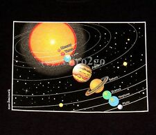 SOLAR SYSTEM--Planets Pluto Astronomy Space Science Kids T shirt NEW Size XS M L