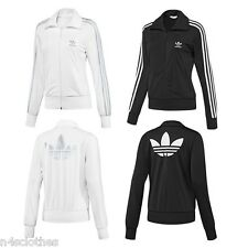 Adidas Originals Womens Ladies Firebird Track Top White Silver Black Size 6 - 14