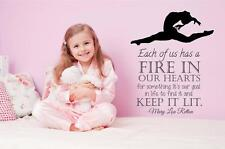 "Marry Lou Retton Quote Wall Decal | Large Gymnastic Vinyl Sticker 20""x28"" [MR1]"