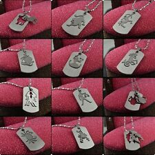 Top Quality Stainless Steel Chains 12 Zodiac Signs Pendant Necklace Colorfast