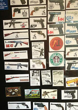 GUN FRIDGE MAGNETS, 47 DESIGNS: COLT, S & W, BERETTA, WALTHER, SAKO +