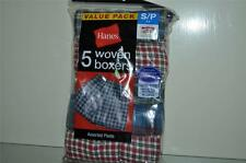 Hanes Boys Assorted Woven Boxer Value 5 Pack Assorted Plaid Colors NWT