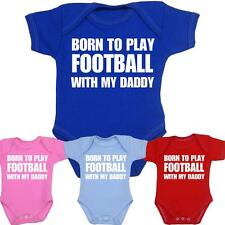 Baby Infant Clothes Born to Play Football NFL Daddy Bodysuit Vests Boys Girls